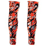 COOLOMG Arm Sleeves Armwärmer Ärmlinge Kompression Bandage Rutschfest Anti UV Running Radsport für Damen Herren 1 Paar XXS-XL