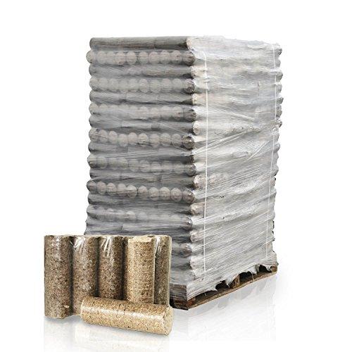 PALIGO Nestro Holzbriketts Hartholz Eiche Kamin Ofen Brenn Holz Heiz Brikett 6kg x 162 Gebinde 972kg / 1 Palette HEIZFUXX