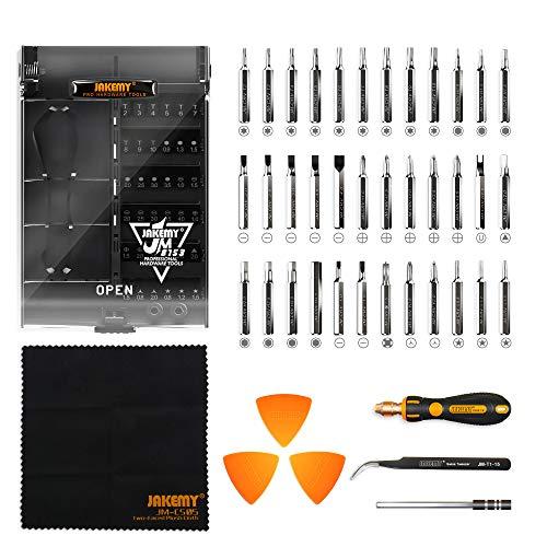 Jakemy - Präzisions-Schraubendreher-Set, 43 in 1, Werkzeug-Set mit 36 magnetischen Schraubendrehereinsätzen für Reparatur von iPhones X/8/7 Plus, Handys, MacBooks, Laptops, PCs