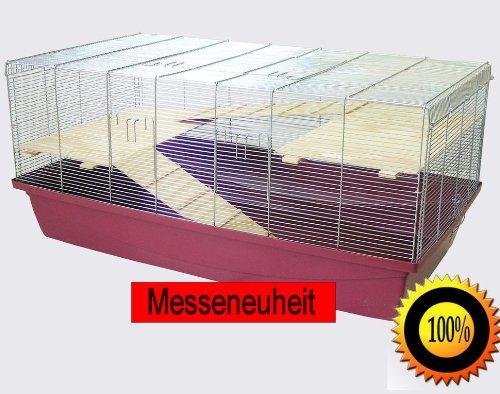 Heimtiercenter 1m Käfig mit 6mm Gitterabstand Hamsterkäfig Mäusekäfig Rattenkäfig+Bonus rot