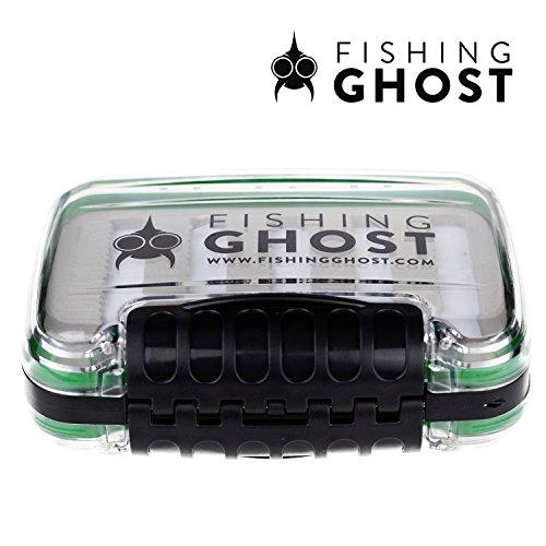 Fishing Ghost wasserdichte Köderbox für Spoons, Spinner, Blinker und Fliegen - passt in jede Jacke oder Tasche, wasserdicht - bietet 10 Reihen mit je 22 Slots