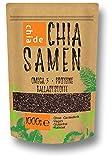 Chia Samen ChiaDE 1kg (1er Pack). In Deutschland gefüllt und verpackt. Chiasamen 1000g
