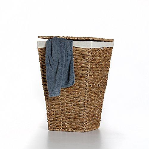 Casa Mina Wäschekorb Wäschebox Wäschesammler aus Wasserhyazinthe 'Brunei' 50cm