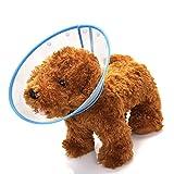 Mogoko Haustier Hund Halsbänder aus Kunststoff Bunte Punkte Halskrause Schutzkragen Kegel Krägen Besondere Schutz für Hunden (XL(Halsumfang:27-36cm), Blau)