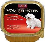 Animonda Vom Feinsten Junior, Nassfutter für junge Hunde im ersten Jahr, mit Geflügel + Putenherzen, 22 x 150 g