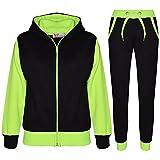A2Z 4 Kids Kinder Trainingsanzug Mädchen Jungen Designer Plain Kontrast - T.S Plain 101 Neon Green 5-6