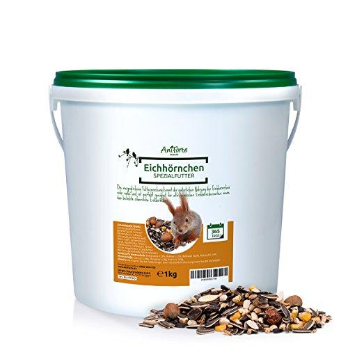 AniForte Wildlife Premium Eichhörnchenfutter 1 kg für Eichhörnchen und Streifenhörnchen- versch. Größen- Naturprodukt für Eichhörnchen
