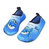 IceUnicorn Kinder Strandschuhe Jungen Mädchen Schwimmschuhe Aqua Schuhe Baby Badeschuhe für Beach Pool Surfen Yoga Unisex(Blau Große Augen Fisch,22/23EU)