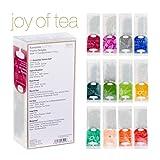 Ronnefeldt Joy of Tea Box, Tee Probierset / Tee Geschenk 'Twelve Delights' mit 12 Aufgussbeuteln zum Kennenlernen, 33,8 g