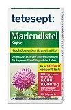 Mariendistel Kapsel – Traditionell pflanzliches Arzneimittel mit Mariendistelextrakt und einem hohen Gehalt an Silymarin – unterstützt die Regenerationsfähigkeit der Leber – 1 x 24 Stück