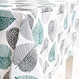 X-Labor Abwaschbar Tischdecke Eckig Wasserdicht Oxford Stoff Tischtuch Tischwäsche Pflegeleicht Garten Zimmer Tischdekoration Mint 100 * 140cm