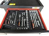 Bensontools Werkstattwagen 542 teilig Werkzeugwagen gefüllt Werkzeug 7 Kugelgelagerte Laden, 1 Stück, XL, 6333