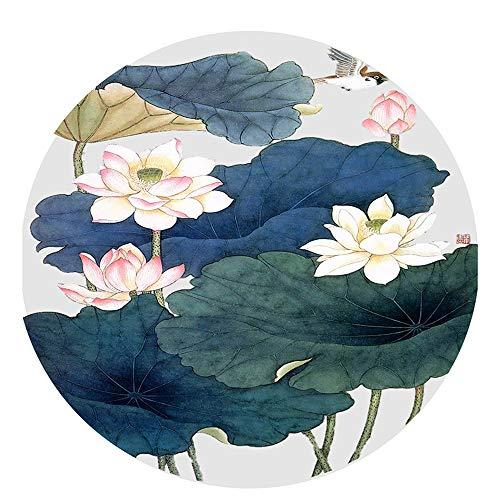 Hossm Meditationsmatte/Tragbare Yogamatte, rutschfeste Naturkautschukmatte - Für Männer Und Frauen, Perfektes Spirituelles Geschenk (60x60cm) A