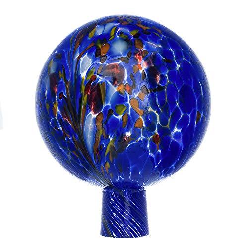 MAROLIN Rosenkugel für den Garten/Gartenkugel (15cm Durchmesser   blau)