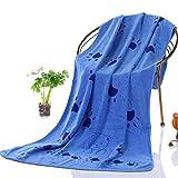 iBaste_Handtuch Hundehandtuch, Hunde Bademantel Handtuch Microfiber Schnelltrocknend Warm Haustierhandtuch für Hunde Katzen 140 * 70CM