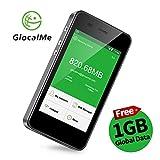 GlocalMe G3 4G LTE mobiler Hotspot mobiler Wlan MiFi mit Powerbankfunktion, mit 1 GB globalen Daten, Simlock-frei, ohne Roaming-Gebühren, verwendbar in über 100 Ländern und Regionen, kompatibel mit Smartphones, Tablets, Laptops
