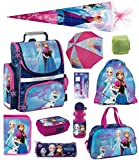 Disney Eiskönigin Schulranzen Set 11-TLG. mit Federmappe, Sporttasche, Schultüte 85cm, Regenschutz Frozen PL