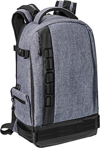 PEDEA SLR-Kamerarucksack 'Fashion' Kameratasche Fotorucksack SLR Rucksack mit Regenschutz, variabler Inneneinteilung und Zubehörfächern, grau
