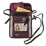 Premium-Brustbeutel mit RFID-Blocker für Damen & Herren | Flache geräumige Brusttasche | Leichte Brustbeuteltasche für maximale Sicherheit für Smartphone & Reise-Dokumente
