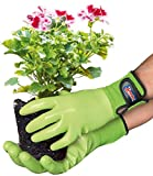 Spontex Garden - Vielseitiger Gartenhandschuh für feuchte Gartenarbeiten, verstellbares Bündchen - 1 Paar, Gr. S