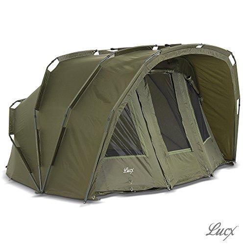 Lucx Tiger Bivvy/1-3 Mann Angelzelt/Karpfenzelt/Carp Dome/Zelt Ohne Winterskin/Fishing Tent/10.000mm Wassersäule