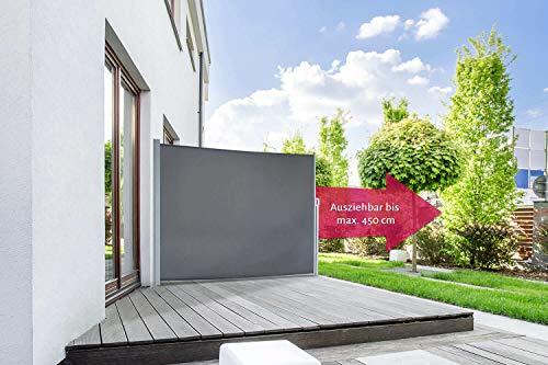 empasa Seitenmarkise Start Sichtschutz Sonnenschutz, Höhe 200 cm, Länge bis max. 450 cm.