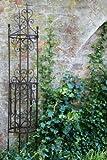 KUHEIGA Rankgerüst Rankhilfe aus Metall H: 150cm, Ø: 26cm Rankturm Obelisk
