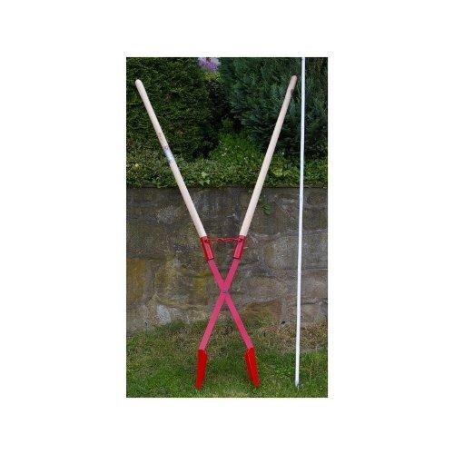 Erdlochausheber Handbagger Lochspaten 140 x 110 bis 280 mm Idealspaten Jumbo 1. Senkrechte Löcher für Zaunpfähle, Pflanzlöcher. 1,70 m. 10 J Garantie