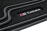 Tuning-Art A38-FBA Auto Fußmatten Exclusive-Line mit Bandeinfassung, Ziernähten