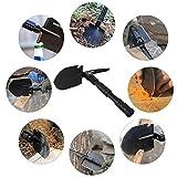 CHINLIN 409 - Multfunktionaler mini Klappspaten Schaufel mit Tasche ( Schaufel, Hacke, Messer, Pickel, Flaschenöffner, Säge für Garten, Camping, Reisen, Wandern, Notfall, Bergsteigen)