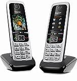 Gigaset C430HX Duo Telefon - 2 Schnurlostelefone/Mobilteile - mit TFT-Farbdisplay - für DECT/CATiq Router - VoIP - Router Kompatibel - Grosse Tasten - IP Telefon - Schwarz