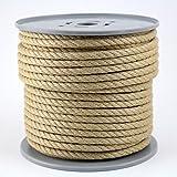 Polyhanfseil - Poly-Hanfseil Durchmesser 10 mm - 50 Meter auf Scheibenspule - 100% Polypropylen
