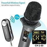 Dynamische Mikrofone, Ansteker UHF Kabelloses Mikrofon mit Mini Bluetooth Empfänger Wireless Funkmikrofon für Konferenz Microphone, Karaoke, Hochzeiten, Kirche, Bühne, Party