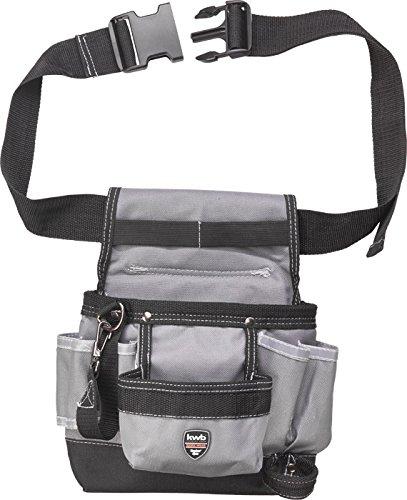 kwb Werkzeugtasche 907710 (aus robustem Nylon, Gürtel aus Nylon, große und kleine Taschen, Hammerschlaufe, Schlaufe mit Karabinerhaken)