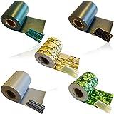 1 x HSM Zaun Sichtschutz Blende Zaunfolie Sichtschutzstreifen 19cm x 35m aus hochwertigem PVC als Windschutz inkl. 20 Befestigungsclips GRAU