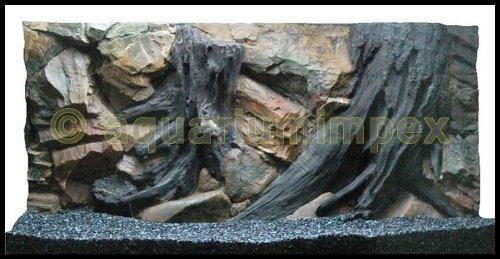 3D Aquarienrückwand 100x50 Root