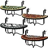 Deuba Balkontisch klappbar | Terracotta | Balkonhängetisch | witterungsbeständig | Hängetisch Klapptisch Mosaiktisch Mosaik