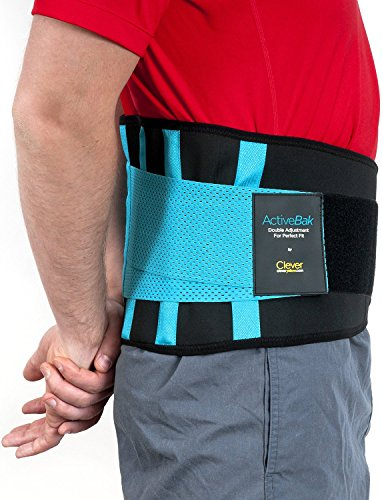 Rückenbandage Rücken Gurt – Der Einzige Rückenstützgürtel von Medizinischer Qualität| Lindert Schmerzen und Beugt Verletzungen vor |Rückenstütze mit Doppelverschluss für den Perfekten Sitz | Rückengürtel für Männer und Frauen | ActiveBak von Clever Yellow | 4 Größen