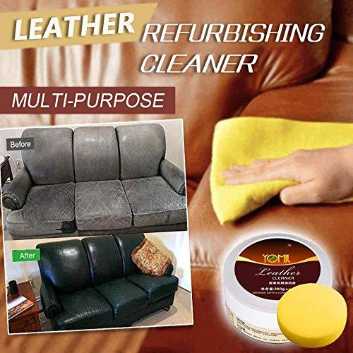 bossMA Multi-Purpose Magic Cleaner, Multi-Surface Cleaner Multifunktionale Lederpflege Reinigungscreme Repair Tool Creme für Glas Ledermöbel Metallboden Mit Schwamm