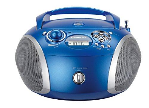 Grundig GRB 2000 Tragbare Radio Boombox Blau/Silber