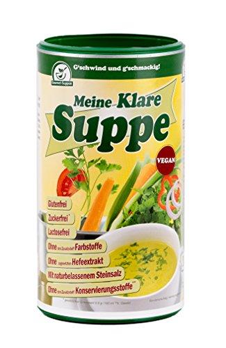 MKS - MAISTRO KLARE SUPPE. Vegane Gemüsebrühe und Würzmittel, ohne Allergieauslöser, ohne PALMÖL, einfach, schnell und delikat zubereitet. 900g/45Liter Gemüsesuppe mit naturbelassenem. Steinsalz