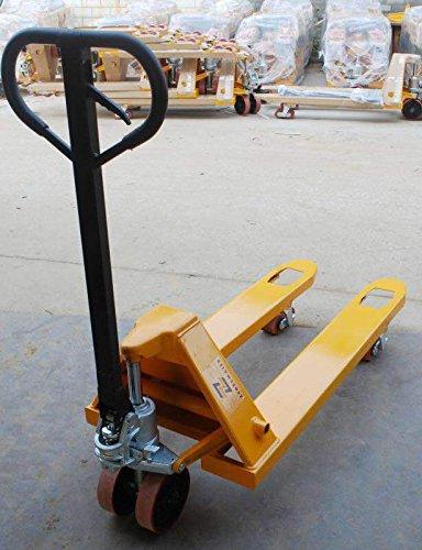 Zedelmaier Handhubwagen Hubwagen Gabelhubwagen Palettenwagen 2500KG 1150mm PU/PU Tandem für Europaletten