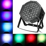 LED Par Licht Spotbeleuchtung Bühnenbeleuchtung Lautstärke Ton akustische Steuerung Strahler Scheinwerfer Lichteffekt für Party Disco DJ schow Licht Projektor (1er Set, 36 LEDs)
