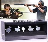Binghotfire Kugelfangkasten Schießstand Pendelkasten Entenkasten Kugelfang 4+1 Ziele Luftgewehr Kugel Auffangkasten Verschiedene Ziele