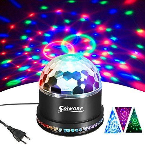LED Discokugel,SOLMORE 51LEDs 12W Discolampe Partyleuchte RGB Lichteffekt Disco Bühnenbeleuchtung Party Licht Discolichteffekte Lampe Projektor DJ Party Licht Deko für Club Party Feier