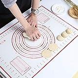 GWHOLE Backmatte Silikon Teigmatte Wiederverwendbar Antihaft mit Messung, 60 x 40 cm
