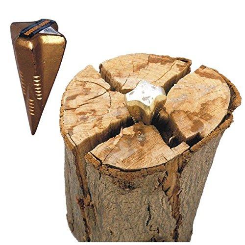 Spaltgranate 1,5kg Stahl Spaltkeil Holzspalter Spaltwerkzeug Holzspaltkeil
