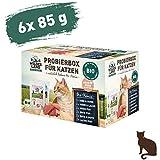 Wildes Land   Nassfutter für Katzen   Mix   Bio   12 x 85 g   Aus kontrolliertem biologischen Anbau   Getreidefrei   Extra viel Fleisch