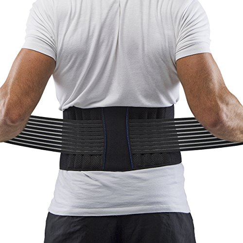Supportiback Rückenstützgürtel zur Haltungskorrektur – Rückenstabilisator, Lendenwirbelstütze und Rückenbandage – leichter, rutschfester, flacher und atmungsaktiver Rückenstützgurt und Geradehalter