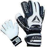 Torwarthandschuhe 'POWER BLOCK' V01 Fingersave Torwart Handschuhe von ATTONO Größe 6